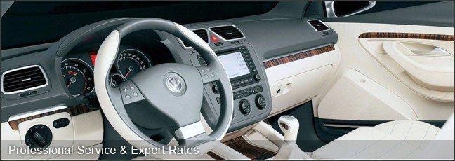 cream interior of a car